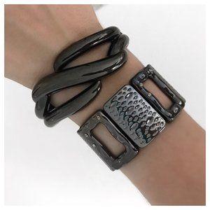 Lia Sophia Hematite Bracelet Set in Grey Metal